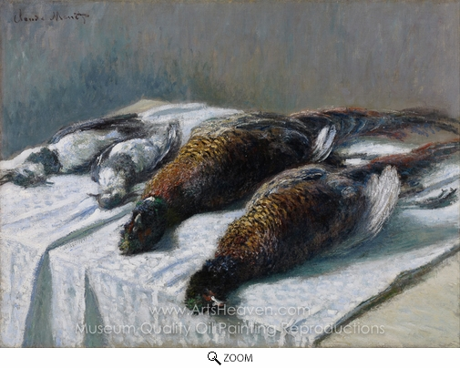 Claude Monet, Still Life with Pheasants and Plovers oil painting reproduction