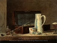 Still Life with Pipe painting reproduction, Jean Simeon Chardin