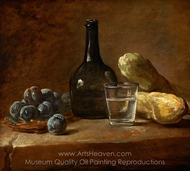 Still Life with Plums painting reproduction, Jean Simeon Chardin
