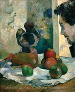 Still Life with Profile of Laval painting reproduction, Paul Gauguin