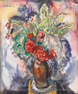 Still Life with Roses in a Vase painting reproduction, Alfred Henry Maurer
