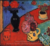 Still Life with Vase and Jug painting reproduction, Alexei Von Jawlensky
