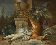 Still Life wth a Dead Roe and Cardoons painting reproduction, Jean-Baptiste Oudry