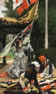Still on Top painting reproduction, James Tissot