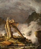 Storm in the Mountains painting reproduction, Frederic Edwin Church