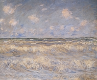 Stormy Sea painting reproduction, Claude Monet