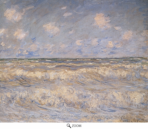 Claude Monet, Stormy Sea oil painting reproduction