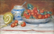 Strawberries painting reproduction, Pierre-Auguste Renoir