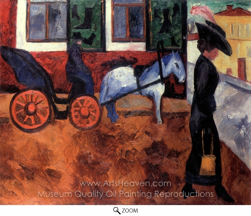 Natalia Gontcharova, Street in Moscow oil painting reproduction