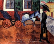 Street in Moscow painting reproduction, Natalia Gontcharova