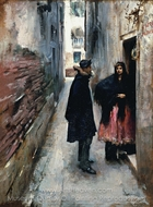 Street in Venice painting reproduction, John Singer Sargent