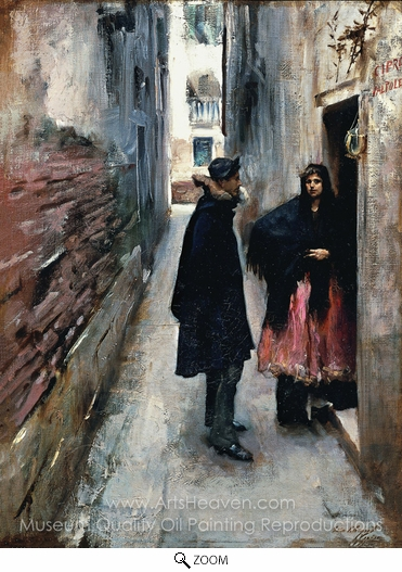 John Singer Sargent, Street in Venice oil painting reproduction