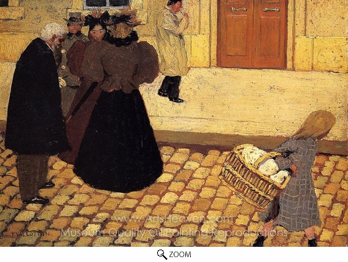 Felix Vallotton, Street Scene oil painting reproduction