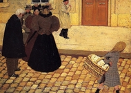 Street Scene painting reproduction, Felix Vallotton