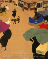 Street Scene in Paris (Coin de rue a Paris) painting reproduction, Felix Vallotton