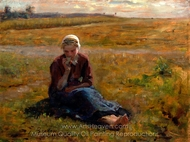 Study for The Snack painting reproduction, Jules Breton