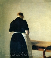 Study of a Woman painting reproduction, Wilhelm Hammershoi