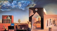 Suburbs of the Paranoiac Critical City painting reproduction, Salvador Dali (inspired by)