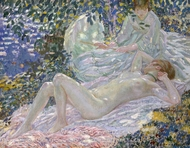 Summer painting reproduction, Frederick Carl Frieseke
