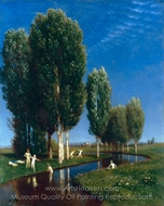 Summer Day painting reproduction, Arnold Bocklin