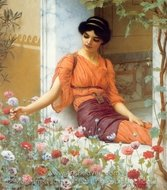 Summer Flowers painting reproduction, John William Godward