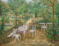 Summer in the Garden painting reproduction, Theodor Von Hormann