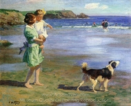 Summer Pleasures painting reproduction, Edward Henry Potthast