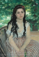 Summer (The Gypsy Girl) painting reproduction, Pierre-Auguste Renoir