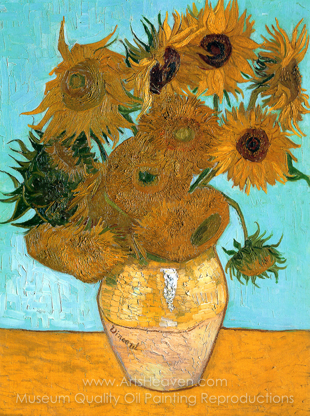 Vincent Van Gogh Sunflowers Painting Reproduction Of Sunflowers