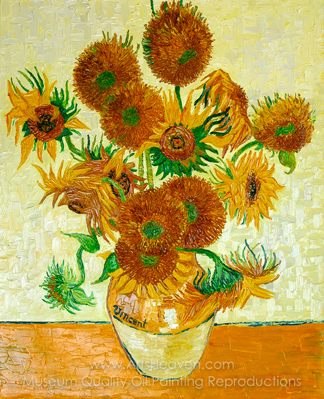 Van Goghs Sunflowers Painting Reproduction Art Reproductions On
