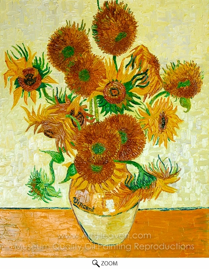 Vincent Van Gogh, Sunflowers (14 in a Vase) oil painting reproduction
