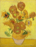 Sunflowers painting reproduction, Vincent Van Gogh