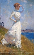 Sunlight painting reproduction, Frank Weston Benson