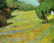 Sunny Lawn in a Public Park painting reproduction, Vincent Van Gogh