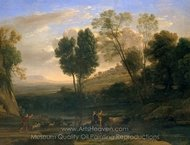 Sunrise painting reproduction, Claude Lorraine