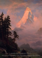 Sunrise on the Matterhorn painting reproduction, Albert Bierstadt