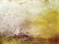 Sunrise with Sea Monsters painting reproduction, Joseph M. W. Turner