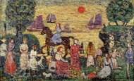 Sunset and Sea Fog painting reproduction, Maurice Prendergast