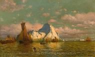 Sunset Glow on Sea and Land painting reproduction, William Bradford
