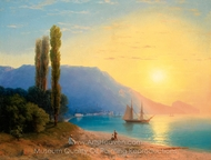 Sunset over Yalta painting reproduction, Ivan Aivazovskiy