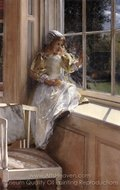 Sunshine painting reproduction, Sir Lawrence Alma-Tadema