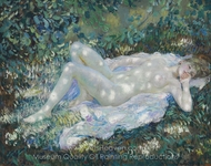 Sunspots painting reproduction, Frederick Carl Frieseke