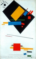 Suprematist painting reproduction, Kasimir Malevich