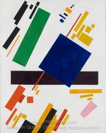 Suprematist Compostion painting reproduction, Kasimir Malevich