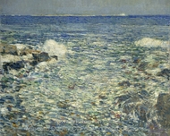 Surf, Isles of Shoals painting reproduction, Childe Hassam