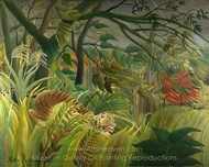 Surprise! painting reproduction, Henri Rousseau
