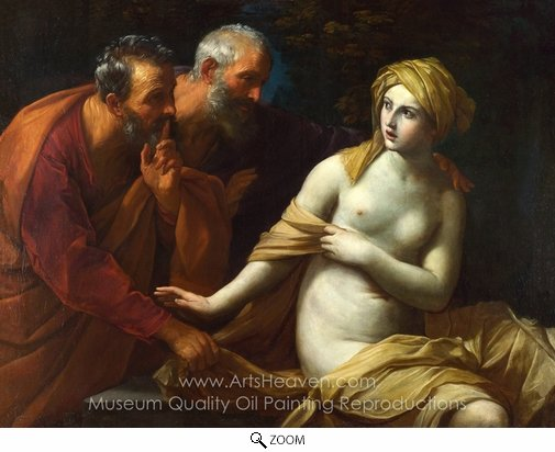 Guido Reni, Susannah and the Elders oil painting reproduction