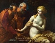 Susannah and the Elders painting reproduction, Guido Reni