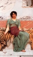 Sweet Dreams painting reproduction, John William Godward