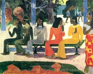 Ta Matete (The Market) painting reproduction, Paul Gauguin